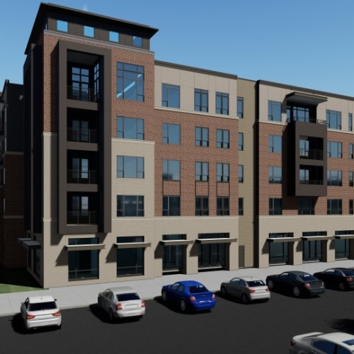 The Griffin – Mixed Use Development located between S. Washington Avenue and Main Street