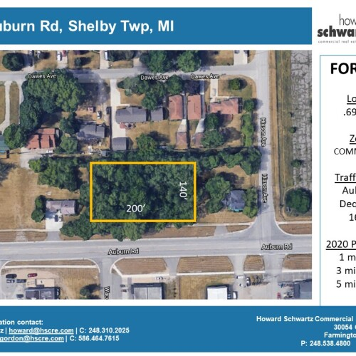 2495 Auburn Rd , Shelby Twp, MI – Vacant Lot